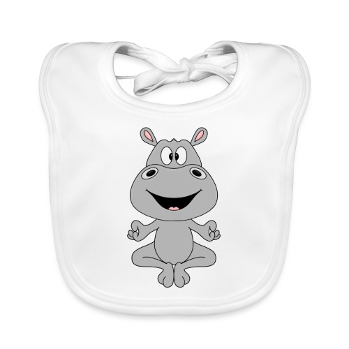 FLUSSPFERD - HIPPO - NILPFERD - YOGA - PILATES - Baby Bio-Lätzchen