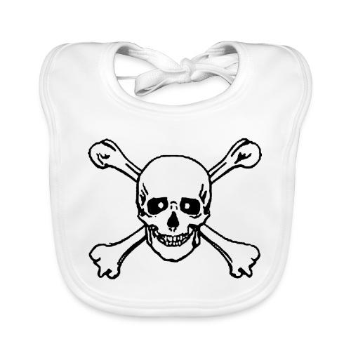 skull - Baby Organic Bib