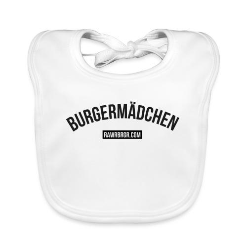 RAWR BRGR Burgermädchen - Baby Bio-Lätzchen
