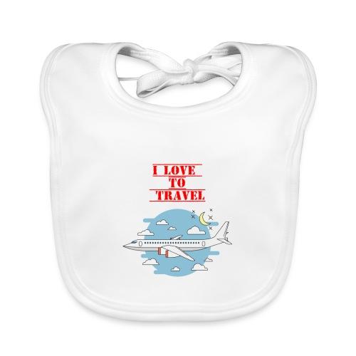 I Love To Travel - Bavaglino ecologico per neonato