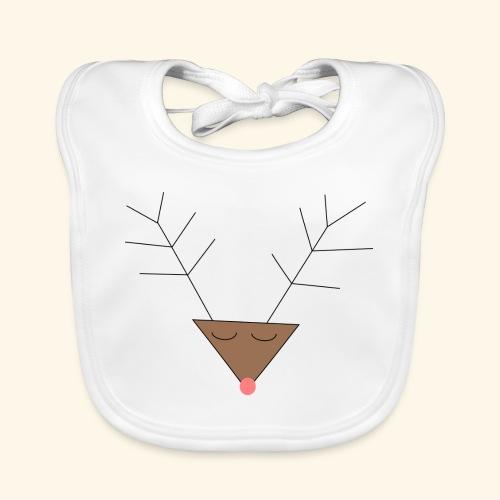Pink nose reindeer - Bavoir bio Bébé