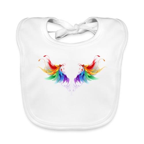 Ailes d'Archanges aux belles couleurs vives - Bavoir bio Bébé