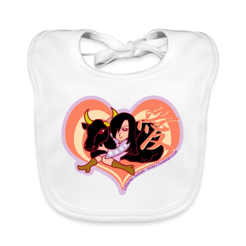 Girl and Ox (Love) - Organic Baby Bibs
