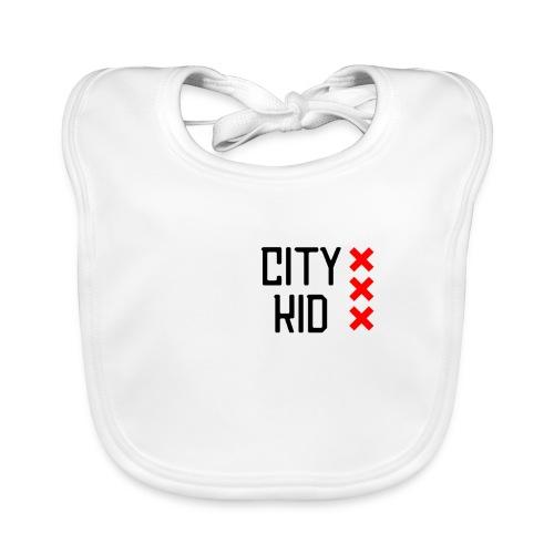 City kid (zwart) - Bio-slabbetje voor baby's