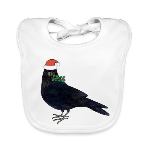 Christmas raven - Baby Organic Bib