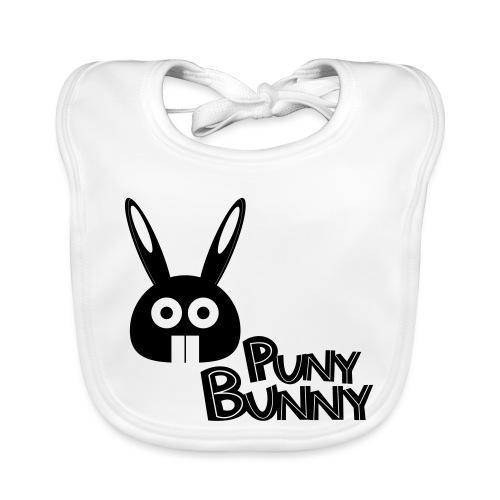 Puny Bunny text - Vauvan luomuruokalappu