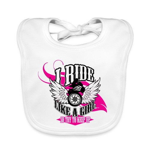 Kabes Ride Like a Girl T-Shirt - Baby Organic Bib