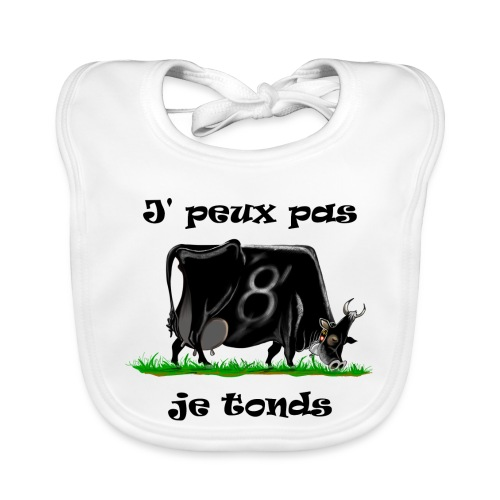 vache, vaches, bétail, Je peux pas je tonds - Bavoir bio Bébé