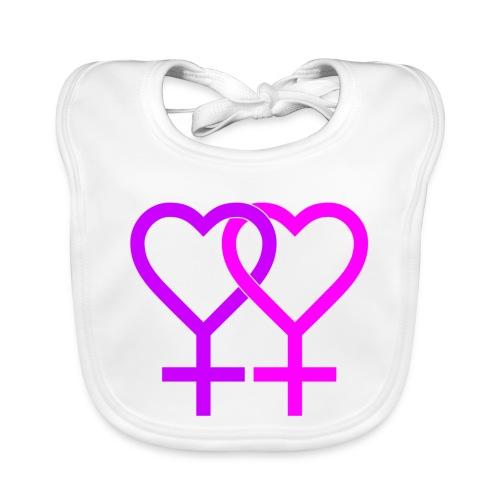 hearts color pink 1192523 - Bavaglino ecologico per neonato