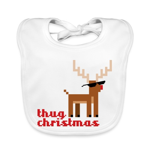 Rudolph the Red Nosed Reindeer Pixel - Baby Organic Bib