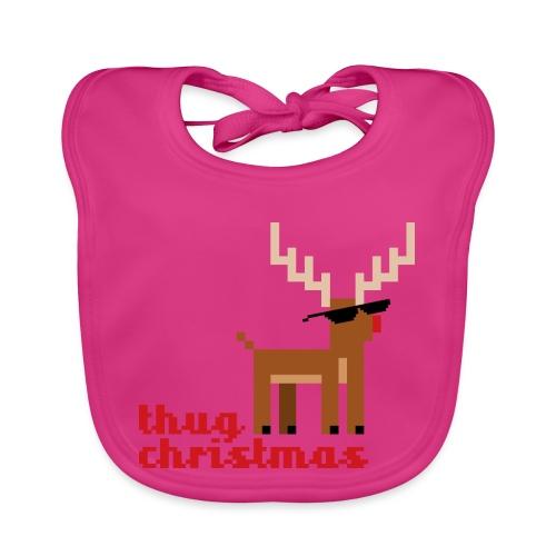 Rudolph the Red Nosed Reindeer Pixel - Organic Baby Bibs