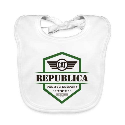 REPUBLICA CATALANA color - Babero de algodón orgánico para bebés
