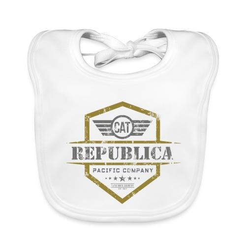 REPUBLICA CATALANA grunge style - Babero de algodón orgánico para bebés
