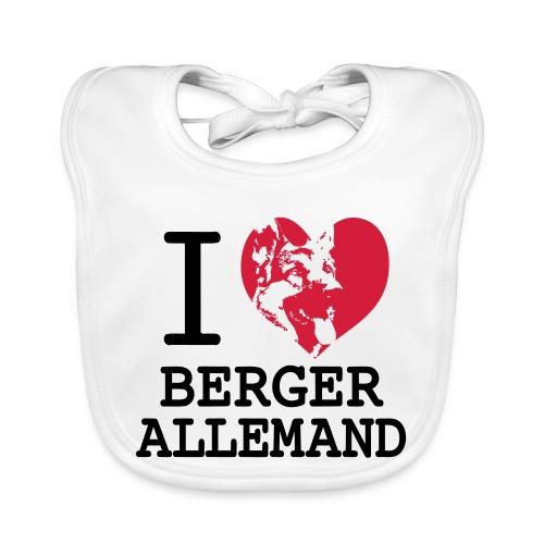 I love Berger Allemand - Bavoir bio Bébé
