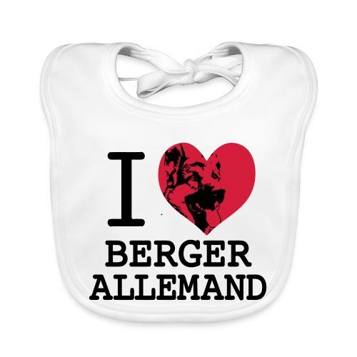 I love Berger Allemand 2 - Bavoir bio Bébé