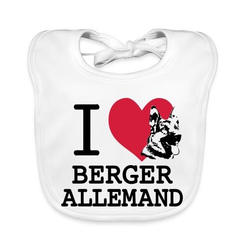 I love Berger Allemand tete - Bavoir bio Bébé