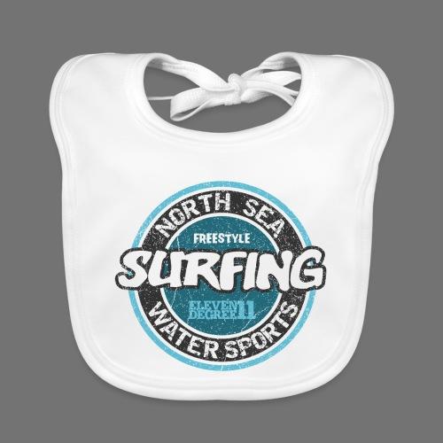 North Sea Surfing (oldstyle) - Baby Bio-Lätzchen