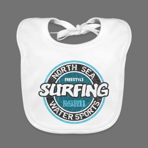 North Sea Surfing (oldstyle) - Baby Organic Bib