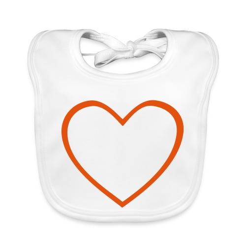 Hjärta 4 - Ekologisk babyhaklapp