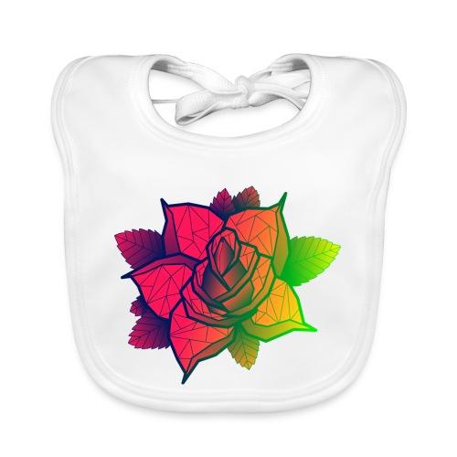 rose tricolore - Bavoir bio Bébé