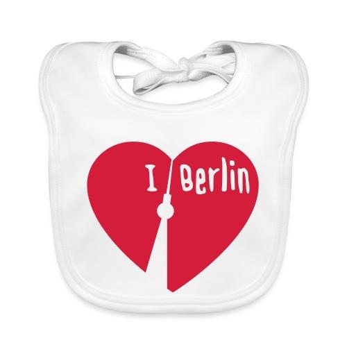 I love Berlin (1-farbig) - Baby Bio-Lätzchen