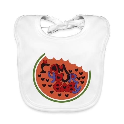 SOY TU CHICA - Babero de algodón orgánico para bebés