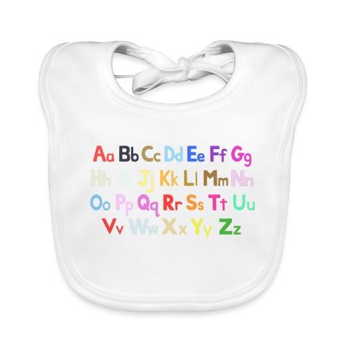 alphabet 2 - Organic Baby Bibs