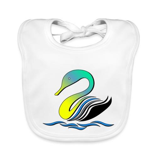 cigno multicolore stilizzato - Bavaglino