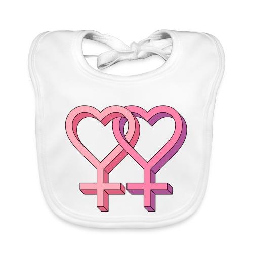 hearts color pink 1192538 - Bavaglino ecologico per neonato
