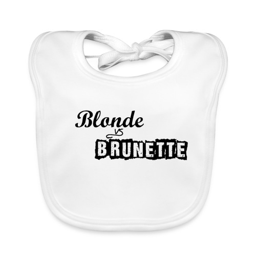 Blond vs Brunette - Bio-slabbetje voor baby's