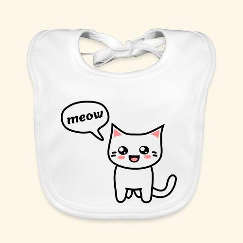 Kawaii Kitteh says meow - Baby Bio-Lätzchen