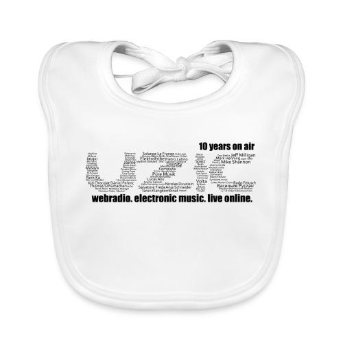 03 tshirt txt noir fond blanc - Baby Organic Bib