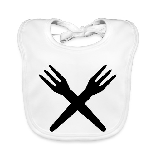 gekruiste frietvorken - trident - Bavoir bio Bébé