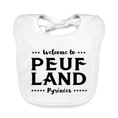Peuf Land Pyrénées - Black - Bavoir bio Bébé