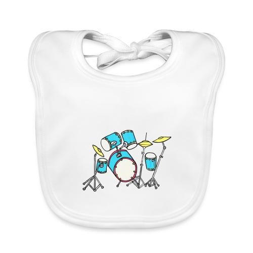 Luigi Drum White - Organic Baby Bibs