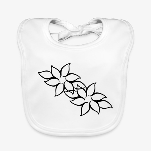 flowers - Baby økologisk hagesmæk