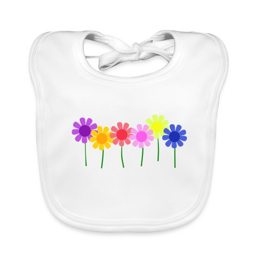 flowers 1 - Organic Baby Bibs