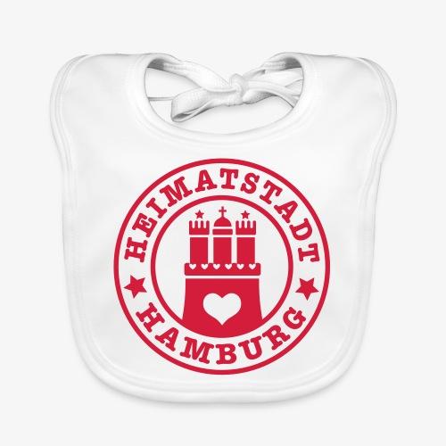 Hamburg Heimatstadt Wappen 1c Herz - Baby Bio-Lätzchen