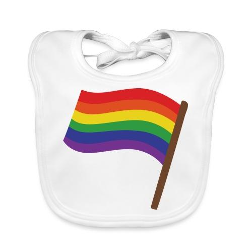 Regenbogenfahne | Geschenk Idee | LGBT - Baby Bio-Lätzchen