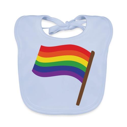 Regenbogenfahne   Geschenk Idee   LGBT - Baby Bio-Lätzchen