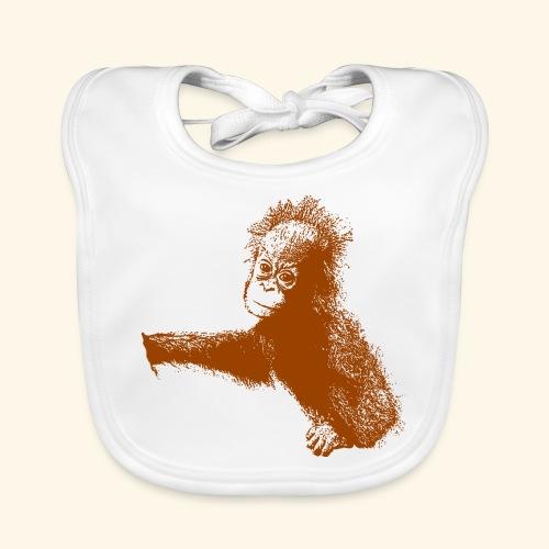 Orang-Utan-Baby braun - Baby Bio-Lätzchen