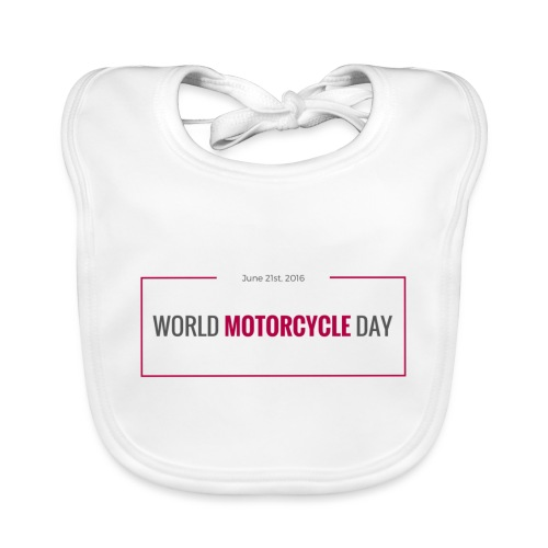 World Motorcycle Day 2016 Official T-Shirt ~ Grey - Baby Organic Bib