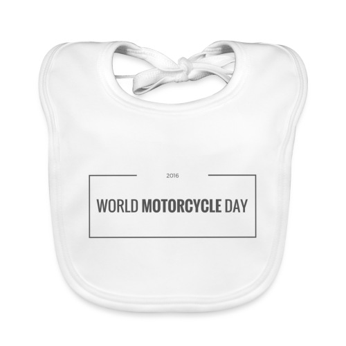 World Motorcycle Day 2016 Official T-Shirt ~ White - Baby Organic Bib