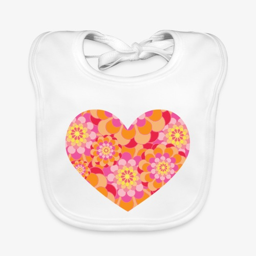 Floral Hearts - Baby Organic Bib