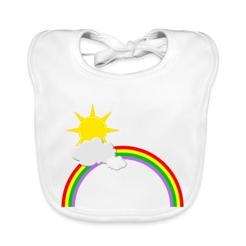 Regenbogen, Sonne, Wolken - Baby Bio-Lätzchen