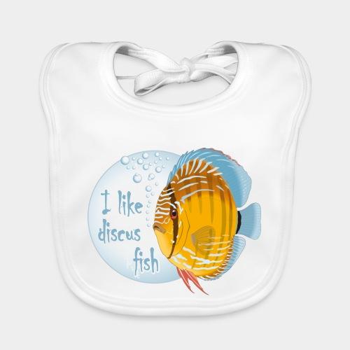 GHB Ich liebe Diskusfische 06112017 1 - Baby Bio-Lätzchen