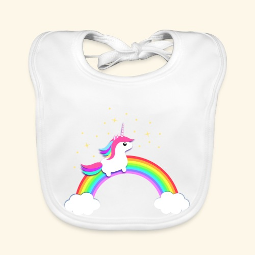 Rainbow Unicorn - Baby Bio-Lätzchen