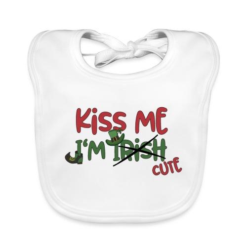kiss me I'm cute - Irish Quotes Flirten St Patrick - Baby Organic Bib