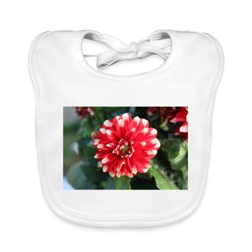 rode bloem afdruk/print - Bio-slabbetje voor baby's