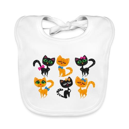 Katzen und Kätzchen majestätisch mit grossen Augen - Baby Bio-Lätzchen
